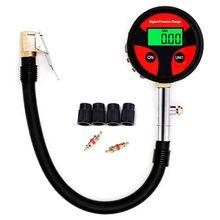 0 200PSI Digitale Band Band Luchtdrukmeter Lcd Manometer Voor Auto Motorfiets
