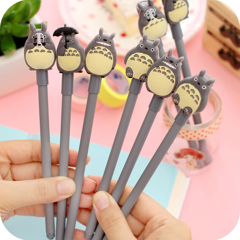 Korean Creative Gel Pens Stationery Cartoon Cute Gray Cat Black Neutral Pen Office & School Supplies