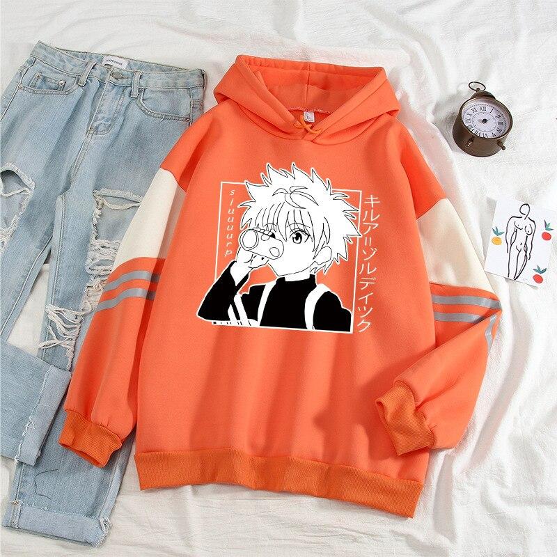 Женские пуловеры Hunter X Hunter, толстовки, свитшоты Killua Zoldyck Hisoka, худи в стиле аниме, одежда Akatsuki, уличная одежда, пуловер, топы