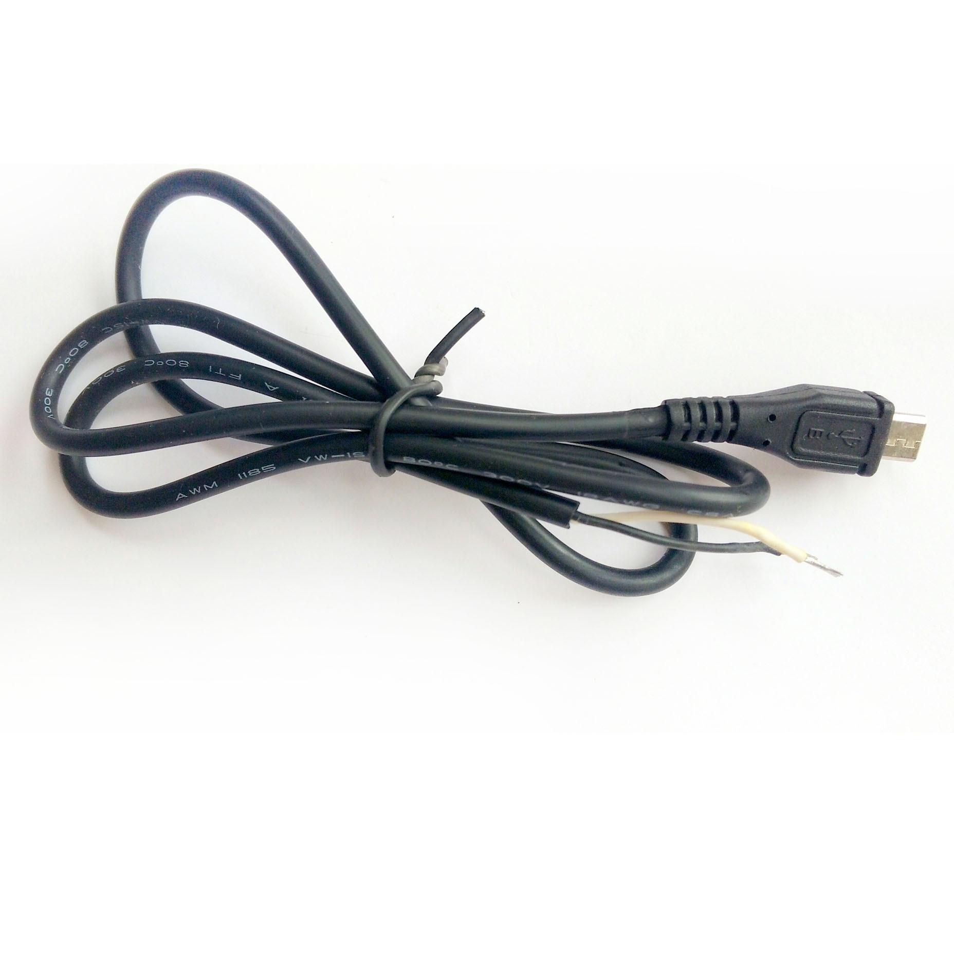 15 pçs de alta qualidade preto micro usb macho plug 2 fio cabo alimentação solda 0.7 m 70cm conectores max atual 3a para carregar diypower cable cordpower cordplug cord -