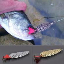 Металлическая блесна ложка для рыбалки, модная блеска в форме совка, золотые, серебряные вращающиеся жесткие приманки, Тройной крюк, новинка