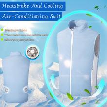 Summer Fan Cooling Vest Men Women Air Conditioning Cool Coat