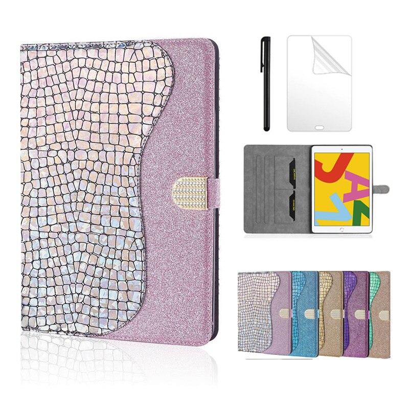 Huawei MediaPad T5 10 kapak Bling Glitter akıllı deri standı tablet kılıf Huawei T5 AGS2 W09 L09L03 W19 + film kalem