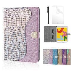 Pour Huawei MediaPad T5 10 couverture Bling paillettes Smart support en cuir tablettes étui pour Huawei T5 AGS2 W09 L09L03 W19 + film stylo