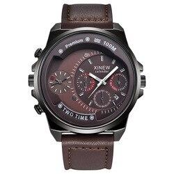 Męski naskórek przynieść zegarek kwarcowy człowiek ruch prezent zegarek na rękę mężczyzna|Zegarki mechaniczne|Zegarki -
