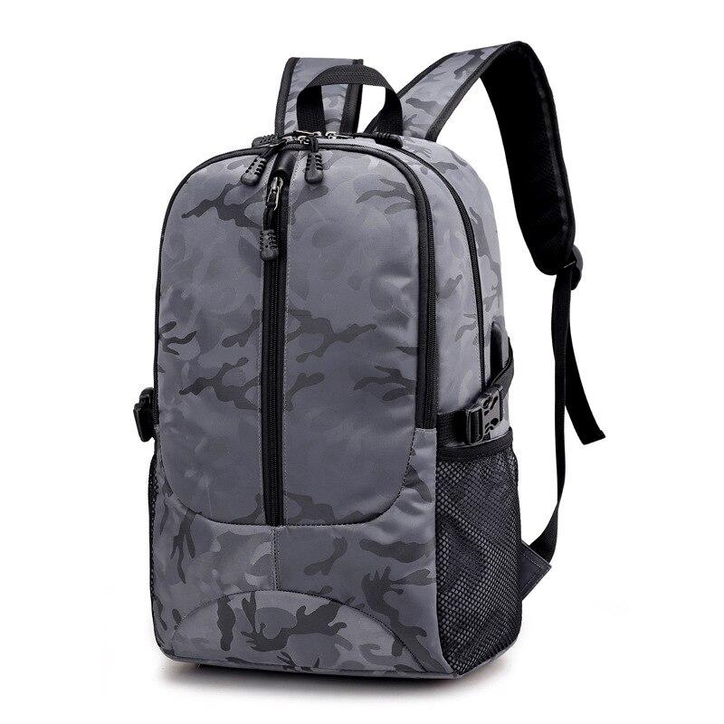 Sac à dos pour ordinateur portable externe USB Charge ordinateur sacs à dos sacs imperméables pour hommes d'affaires voyage sac à dos garçons sacs d'école - 2