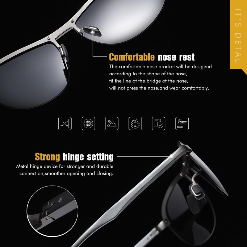 2020 Brand Photochromic Men Sunglasses Polarized Glasses Day Night Vision Driving Sun Glasses For Male Oculos De Sol Masculino 5