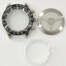Novo caso do relógio de volta capa vidro safira espelho peças reparo aço inoxidável para t461/t035627a/t099407a/t04417a/t100417a
