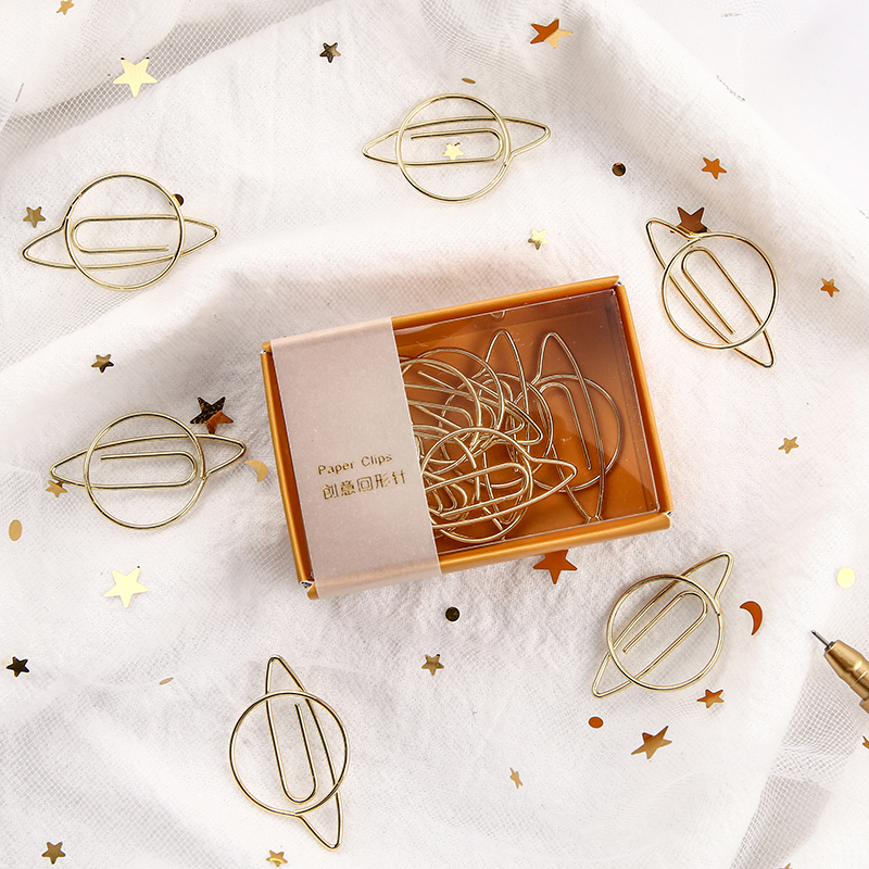 Le Petit Prince Planet Mini Paper Clips Kawaii Stationery Clear Binder Clips Photos Tickets Notes Letter Paper Clip Stationery