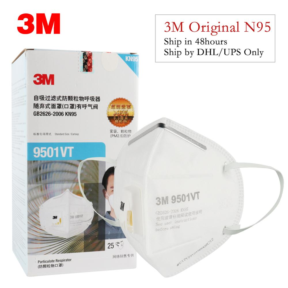 10PCS 3M Mask 9501V+/9001 Dust Mask Particulate Respirator Protective Masks Safety Mask With Valve PM2.5 Haze Fog Dustproof Mask