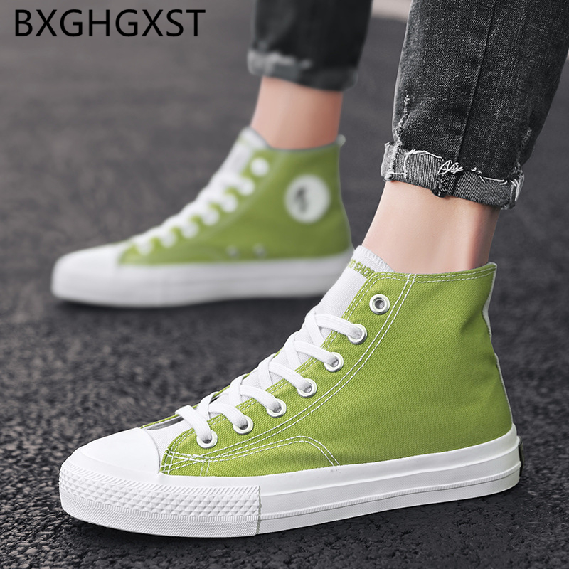 High Top Sneakers Summer Men Vulcanize Shoes Canvas Shoes Men 2020 Breathable Skate Shoes Men Brand <font><b>Zapatillas</b></font> <font><b>Hombre</b></font> Casual image