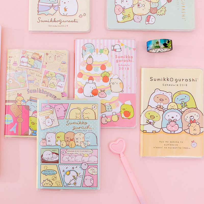 Kawaii Sumikko Gurashi Girl Heart Notebook Diary Book Exercise Bullet Journal Notepad Gift Stationery