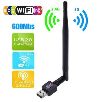 Wireless 600Mbps USB WiFi Router Adapter PC Network LAN Card Dongle with Antenna wifi Adapter wifi адаптер USB Adapter USB wifi wifi usb адаптер asus usb n14