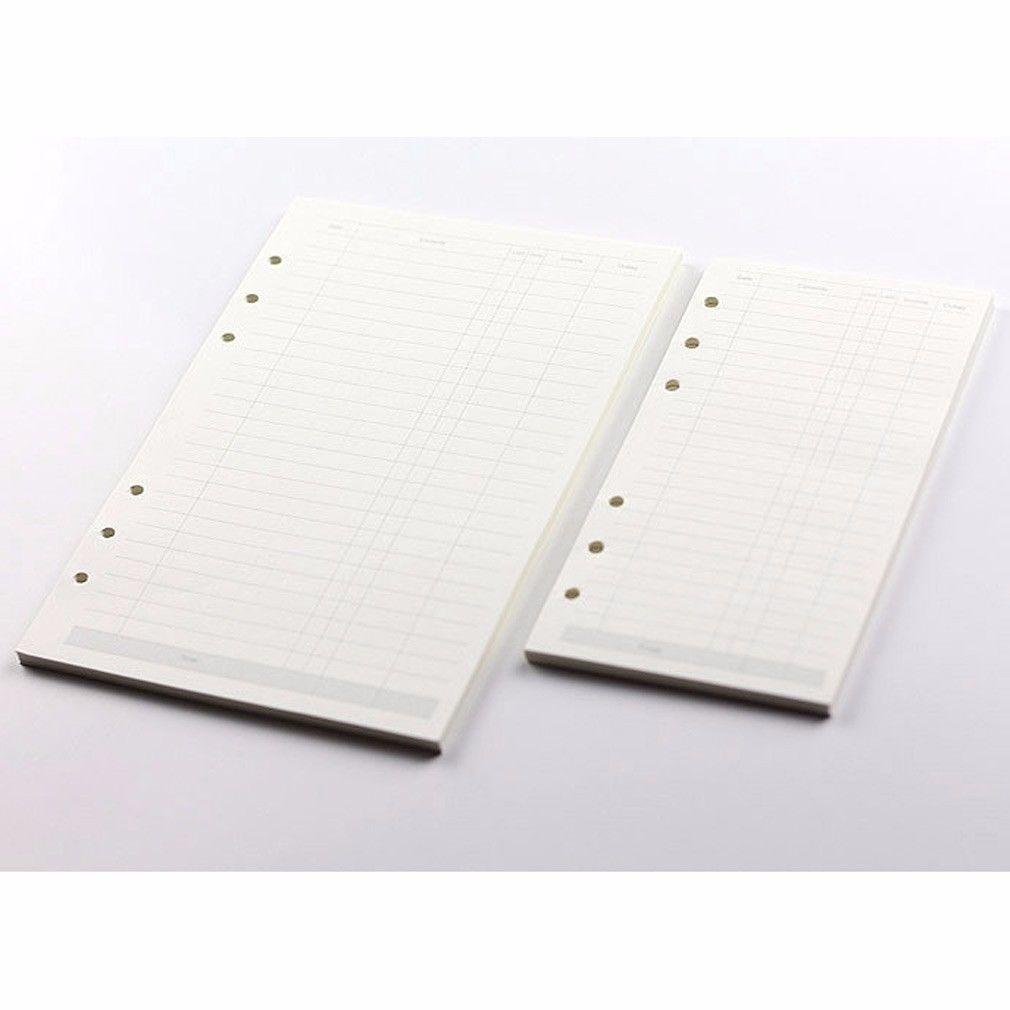 A5 Accountant Planner Diary Insert Refill Schedule Organiser 45 Sheet Note Paper