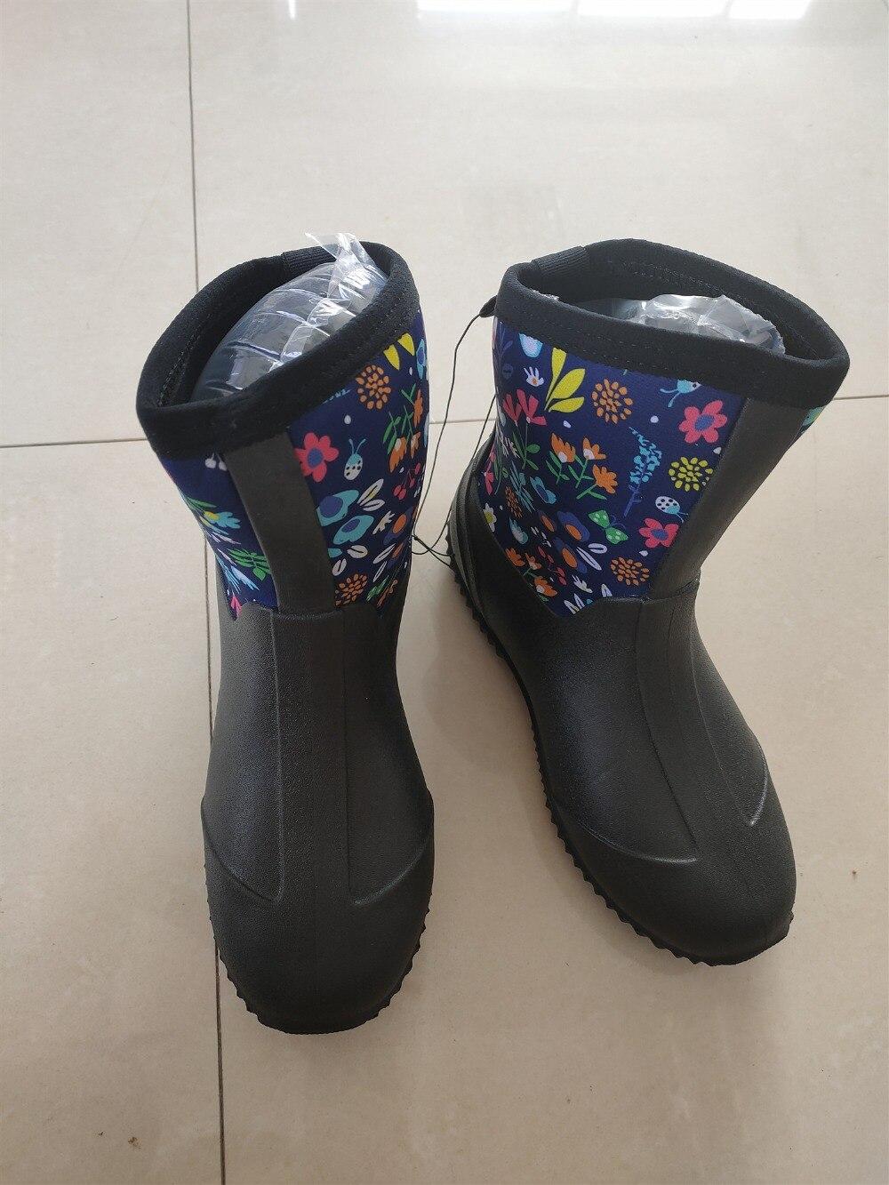 Botas de chuva de cor sólida sapatos