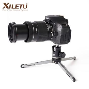Mini trípode de aluminio portátil para teléfono Dslr soporte de cámara con cabeza de bola desmontable Universal y soporte para teléfono móvil de Metal