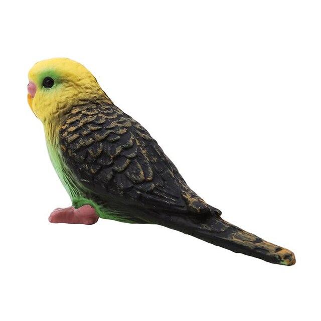 Plastic Bird Model Animal Wildlife Statue Simulation Parrot Exquisite Gift Vivid Figurine Artificial Home Decor 2