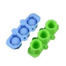 Moldes de silicona para macetas, moldes para tazas poligonales artesanales, moldes para macetas suculentas DIY, molde de yeso de arcilla, molde de 3 agujeros para hormigón