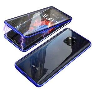 Image 2 - קליטה מגנטית Flip Huawei Mate 20 20Pro 20 לייט טלפון חזרה כיסוי מתכת זכוכית Mate20 Mate20Pro Mate20Lite פרו לייט