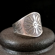 Vintage Punk 999 Sterling Silver Ring Men Steampunk Sun Big Boho Women Rings Antique Adjustable Handmade Luxury Jewelry Gothic