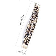Fashion Animal Leopard-Print Bracelet Wrap  Alloy Bangle Jewelry Gift