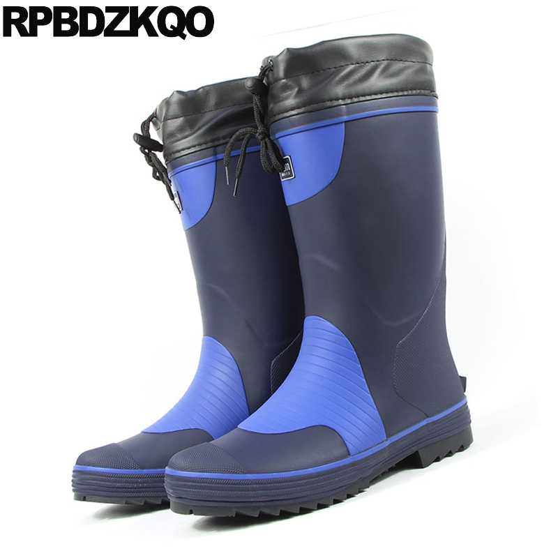 Mens Rubber Rain Boots Slip On Cheap