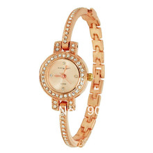King Girl Womens Watches Rose Gold Rhinestone Quartz Luxury Women Dress Fashion Watch Clock montres femme 2019