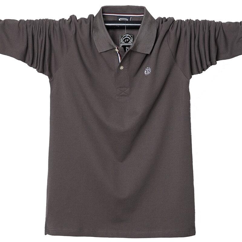 2019 Autumn Men's Long Sleeve Polo Shirt Plus Size 5XL 95% Cotton Casual Polo Men Tops Tees High Quality Brand Polos Shirts