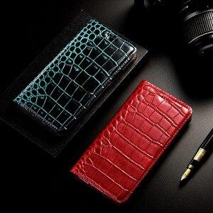 Image 5 - Crocodile Genuine Leather Phone Case For Samsung Galaxy A51 A71 A01 A21 A10 A20 A30 A40 A50 A60 A70 A80 A90 5G Flip Cover Coque