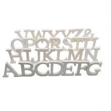 1Pcs 10cm*8cm*1cm Creative White Wooden Letter English Alphabet DIY Removable Wedding Party Home Decoration
