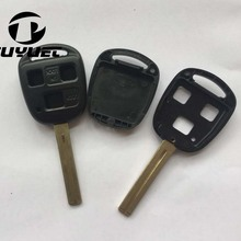 FOB Car Key Case For Toyota Remote Key Shell 3 Buttons TOY48 (Long) ,10 pcs/Lot