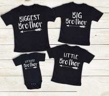 Camisas a juego para 4 hermanos, camisetas de manga corta, Mono para recién nacido, Verano