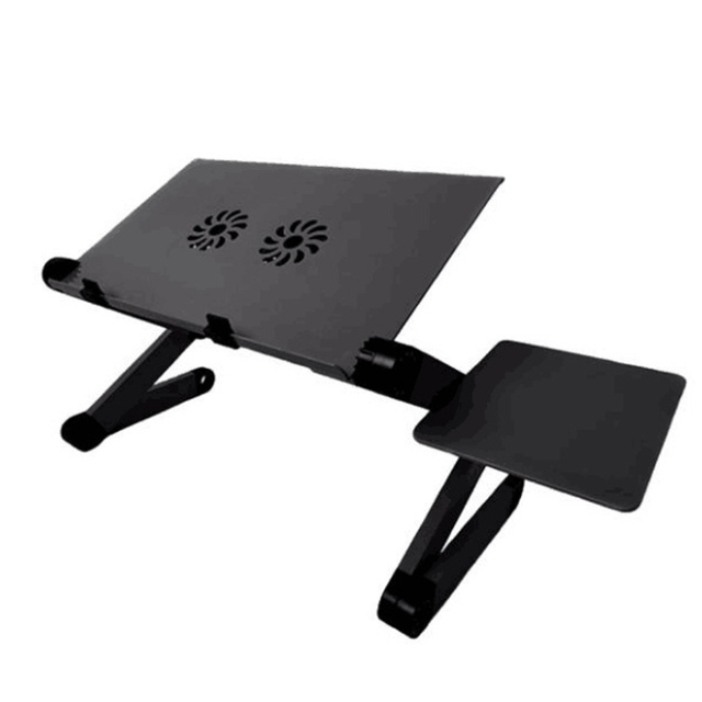 420*260mm Adjustable Aluminum Laptop Desk Stand Table Vented Ergonomic TV Bed  Working Office PC Riser Bed Sofa Couch #T