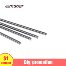 8mm linear shaft 3d printer 370mm-500mm Cylinder Chrome Plated Liner Rods axis chromed linear rail rod X Y Z axis CNC Parts 4pcs 13mm 13x400 linear shaft 3d printer 13mm x 400mm cylinder liner rail linear shaft axis cnc parts