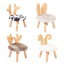 Stool Bench Wooden Living-Room-Furniture Small Kids Children Home for Shoes Adult Simple