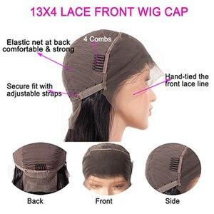 Image 5 - Perruque Lace Frontal wig 150% brésilienne Remy