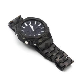 Камуфляж GA2100 ремешок для часов и ободок GA-2100 набор часов модификация 100% Металл 316L Нержавеющая сталь ремешок для часов и крышка инструменты