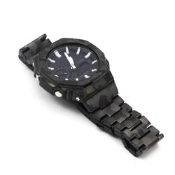 Camouflage GA2100 Watchband and Bezel GA-2100 Watch Set Modification 100% Metal 316L Stainless Steel Watchstrap and Cover Tools