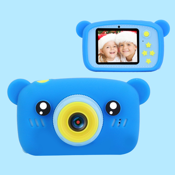 Dziecko aparat HD cyfrowy podwójny aparat 2 calowy cute cartoon Kid aparat zabawki prezent urodzinowy dla dzieci 1200w zabawki dla dzieci aparat tanie i dobre opinie LEING FST Naprawiono ostrości Brak Full hd (1920x1080) CMOS 1 2 35 cali 15-45mm 5 0-9 9MP GM24 Bateria litowa