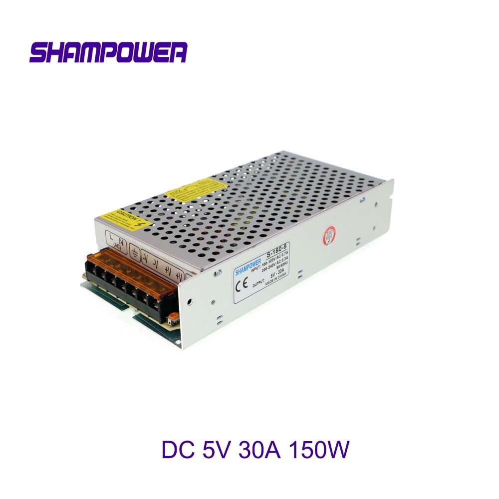 DC 5V Power Supply 150W 30A AC 110V/220V To DC 5V Switch Power Supply Security Adapter Power Supply For LED Strip Light motor