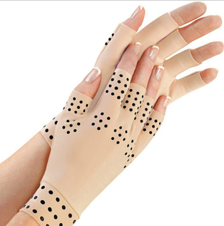 VIP2 1 Pair Magnetic Therapy Fingerless Gloves Arthritis Pain Relief Heal Joints Braces Supports Health Care Sport Safe Wrist
