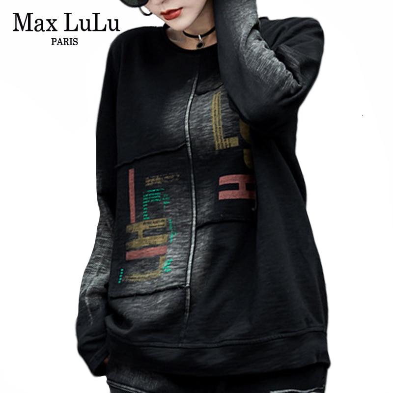 Max LuLu 2019, зимняя одежда, корейская мода, джинсовые топы, женские принтованные Футболки с длинным рукавом, винтажные кавайные футболки размера плюс|Футболки|   | АлиЭкспресс