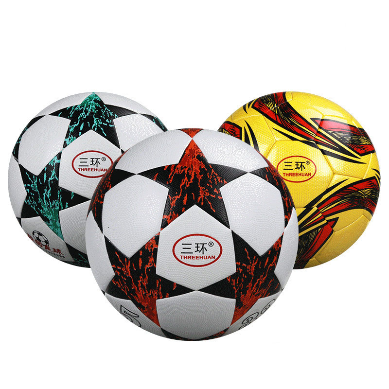 Soccer Ball PU Soft Leather Children Adult Football Number 5 Soccer Training Equipment