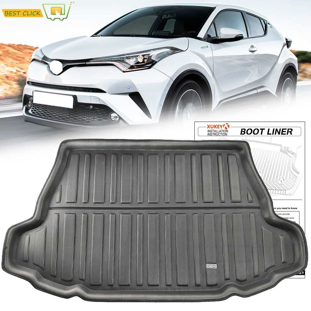Tailored Boot Cargo Liner Tray Voor Toyota C-HR CHR C HR 2017 2018 2019 Kofferbak Tray Floor Mat Tapijt modder Kick Waterdicht