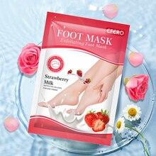 Peeling-Socks Pedicure Strawberry-Milk-Foot-Mask Exfoliating-Feet Heel Skin-Care Dead-Skin