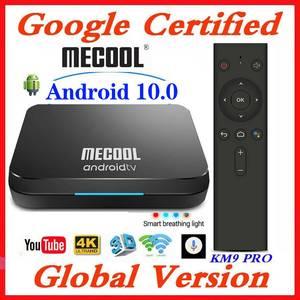Image 1 - Google Chứng Nhận MECOOL TV Box Android 9.0 KM9 PRO Androidtv 9.0 4 GB RAM 32 GB Amlogic S905X2 4 K bằng giọng nói 2.4G 5G Wifi BT4.0 KM9 ATV