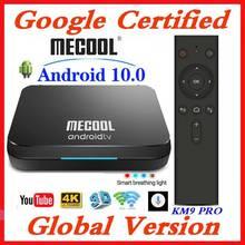 Google Gecertificeerd MECOOL TV Box Android 9.0 KM9 PRO Androidtv 9.0 4 GB RAM 32 GB Amlogic S905X2 4 K voice 2.4G 5G Wifi BT4.0 KM9 ATV