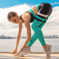 Long Pants Women Yoga Sets Fitness Push Up Striped Gym Clothes Sports Running Suit Clothing Wear Red Black Sportwear New
