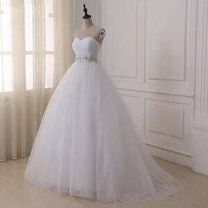 Image 3 - Jiayigong Voorraad Real Wedding Dresses Vestidos De Novia Sweetheart Sweep Trein Kant Applique Corset Trouwjurk Robe De Mariage