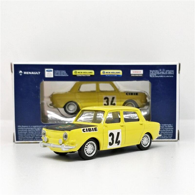 Norev 1:64 SIMCA 1000 Rallye #34 Yellow Diecast Model Car